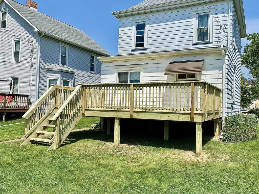 Navarre New Deck Build with Treated Wood